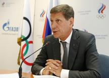 Russian Olympic Committee head Alexander Zhukov chairs a meeting with members of executive board of the Russian Olympic Committee to announce names of sportspeople selected to go to the 2016 Rio Games, in Moscow, Russia, July 20, 2016. REUTERS/Sergei Karpukhin