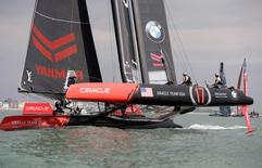 Britain Sailing - America's Cup 2016 - Portsmouth - 22/7/16 Oracle team USA during a practice race Reuters / Henry Browne Livepic