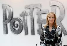 British author JK Rowling, creator of the Harry Potter series of books, poses during the launch of new online website Pottermore in London June 23, 2011.  REUTERS/Suzanne Plunkett/File Photo