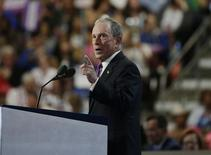 Former New York Mayor Michael Bloomberg speaks at the Democratic National Convention in Philadelphia, Pennsylvania, U.S. July 27, 2016.  REUTERS/Gary Cameron
