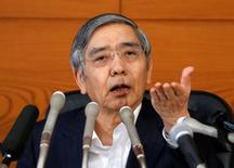 Bank of Japan (BOJ) Governor Haruhiko Kuroda attends a news conference at the BOJ headquarters in Tokyo, Japan, July 29, 2016.   REUTERS/Kim Kyung-Hoon