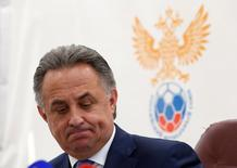 Russian Sports Minister Vitaly Mutko attends a news conference in Moscow, Russia, July 23, 2016. REUTERS/Sergei Karpukhin