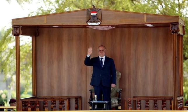 Iraqi Prime Minister Haider al-Abadi attends a military parade at Tahrir Square in central Baghdad, Iraq, July 14, 2016. REUTERS / Khalid al Mousily / File Photo