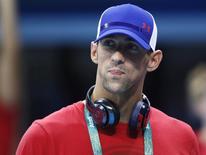 Nadador norte-americano Michael Phelps visita a piscina olímpica da Rio 2016. 02/08/2016   REUTERS/Stefan Wermuth