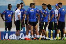 Seleção masculina durante treino no Estádio Serra Dourada, em Goiânia.   29/07/2016           REUTERS/Ueslei Marcelino