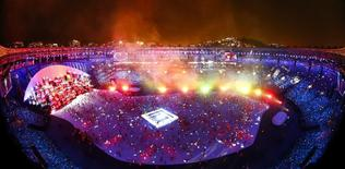Cerimônia de aberturta da Rio 2016. 05/08/2016.   REUTERS/Fabrizio Bensch