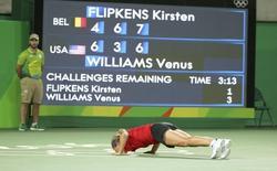Tenista Kirsten Flipkens vence Venus Williams  06/08/2016  REUTERS/Kevin Lamarque