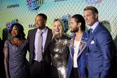 "Cast members (L-R) Viola Davis, Will Smith, Margot Robbie, Jared Leto and Joel Kinnaman attend the world premiere of ""Suicide Squad"" in Manhattan, New York, U.S., August 1, 2016.  REUTERS/Andrew Kelly"