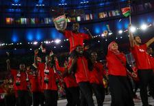Delegação do Quênia em cerimônia de abertura  05/08/2016  REUTERS/Kai Pfaffenbach