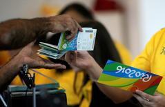 Ingressos da Rio 2016 em bilheteria no Rio de Janeiro.   20/06/2016       REUTERS/Ricardo Moraes/File Photo