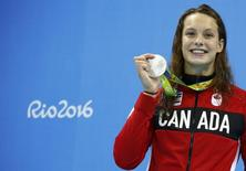 Penelope Oleksiak, do Canadá. REUTERS/David Gray