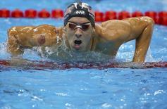 Michael Phelps, dos EUA, durante competição no Rio de Janeiro 07/08/2016 REUTERS/Dominic Ebenbichler