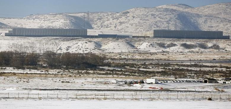 A National Security Agency data gathering facility in Bluffdale, about 25 miles (40 km) south of Salt Lake City, Utah, December 16, 2013. REUTERS/Jim Urquhart