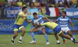 Jogo Brasil x Argentina de rúgbi. 10/08/2016 REUTERS/Phil Noble