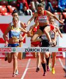 Danekova durante prova em Zurique em 2014.  15/8/2014.          REUTERS/Arnd Wiegmann