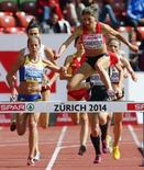 Búlgara Danekova durante prova em Zurique. 15/08/2014   REUTERS/Arnd Wiegmann