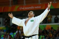 Rafael Silva conquista medalha de bronze na Rio 2016. 12/08/2016 REUTERS/Murad Sezer