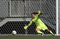 Goleira Hope Solo em jogo contra Suécia.  12/08/2016.  REUTERS/Ueslei Marcelino