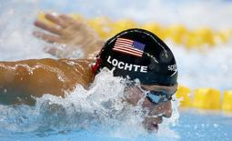 2016 Rio Olympics - Swimming - Semifinal - Men's 200m Individual Medley Semifinals - Olympic Aquatics Stadium - Rio de Janeiro, Brazil - 10/08/2016. Ryan Lochte (USA) of USA competes REUTERS/Michael Dalder