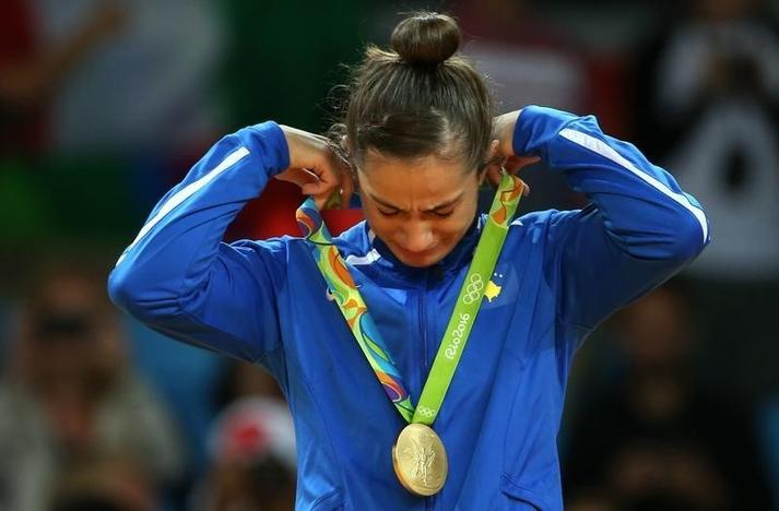 Kosovo's first Olympics winner gets hero's welcome at home