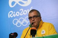 Diretor de Comunicaçõe do comitê organizador da Rio 2016, Mario Andrada, dá entrevista coletiva no Rio de Janeiro 06/08/2016 REUTERS/Tony Gentile