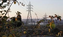 El Gobierno chileno logró el miércoles reducir sustancialmente el valor promedio de la energía en la mayor subasta de suministro realizada en el país, con firmas como Mainstream Renewable Power, Endesa Chile y la española Acciona entre las principales ganadoras. En la imagen, líneas de electricidad de alto voltaje en Puchuncavi, Chile, el 21 de febrero de 2015. REUTERS/Rodrigo Garrido