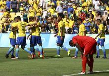 Brasil x Honduras no Maracanã. 17/08 REUTERS/Leonhard Foeger