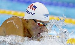 2016 Rio Olympics - Swimming - Preliminary - Men's 200m Individual Medley - Heats - Olympic Aquatics Stadium - Rio de Janeiro, Brazil - 10/08/2016. Ryan Lochte (USA) of USA  REUTERS/Michael Dalder  FOR EDITORIAL USE ONLY. NOT FOR SALE FOR MARKETING OR ADVERTISING CAMPAIGNS.