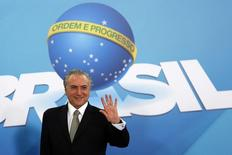 Presidente interino Michel Temer durante reunião em Brasília 11/08/2016 REUTERS/Adriano Machado