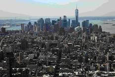 Lower Manhattan including the financial district is pictured from the Manhattan borough of New York, U.S. June 1, 2016. REUTERS/Carlo Allegri/File Photo