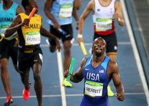 2016 Rio Olympics - Athletics - Final - Men's 4 x 400m Relay Final - Olympic Stadium - Rio de Janeiro, Brazil - 20/08/2016. LaShawn Merritt (USA) of USA compete.  REUTERS/Alessandro Bianchi