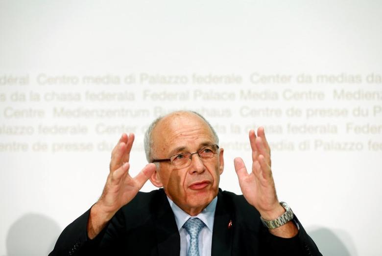 Swiss Finance Minister Ueli Maurer attends a news conference in Bern, Switzerland July 26, 2016. REUTERS/Ruben Sprich