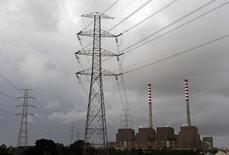 Usina de energia da EDP Energias de Portugal em Sines 05/03/2013