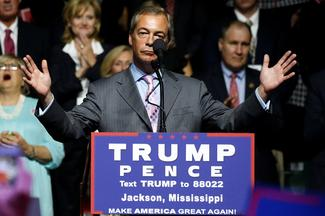 Farage stumps with Trump