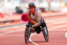 2016 London Anniversary Games - Queen Elizabeth Olympic Park, Stratford, London - 23/7/16. Great Britain's David Weir after finishing third in the mens 1500m T54 Reuters / Eddie Keogh Livepic