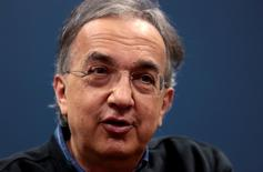 FCA CEO Sergio Marchionne addresses the media during a celebration of the production launch of the all-new 2017 Chrysler Pacifica minivan at the FCA Windsor Assembly plant in Windsor, Ontario, May 6, 2016. REUTERS/Rebecca Cook