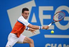 Spain's Roberto Bautista Agut in action during the quarter final. Action Images via Reuters / Tony O'Brien