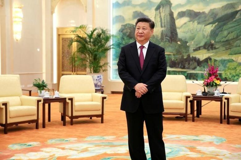 Chinese President Xi Jinping waits for the arrival of US National Security Adviser Susan Rice (not pictured) for their meeting at the Great Hall of the People in Beijing, China, July 25, 2016. REUTERS/How Hwee Young/Pool