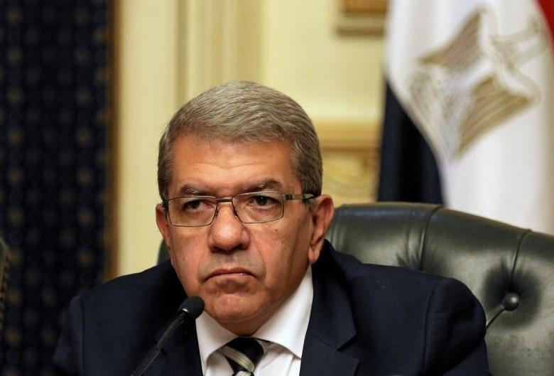 Finance Minister Amr El-Garhy at a news conference in Cairo, Egypt August 11, 2016. REUTERS/Mohamed Abd El Ghany