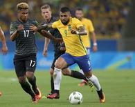 Atacante Gabriel Barbosa durante partida da seleção na Rio 2016.        20/08/2016       REUTERS/Bruno Kelly