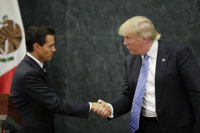 Cross-border Trump protests