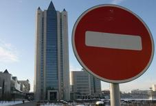 Центральный офис Газпрома в Москве. 4 января 2006 года. США внесли в санкционный секторальный список ряд дочерних структур Газпрома, следует из сообщения Минфина США. REUTERS/Grigory Dukor