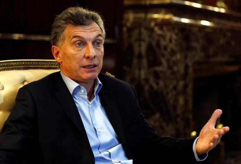 Argentine President Mauricio Macri speaks during an interview in Buenos Aires, Argentina, August 8, 2016. Picture taken August 8, 2016.  REUTERS/Agustin Marcarian