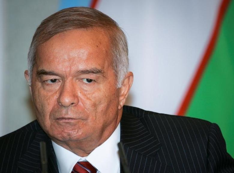 Uzbekistan's President Islam Karimov attends a joint news conference with Japanese Prime Minister Junichiro Koizumi in Tashkent, Uzbekistan, August 29, 2006.REUTERS/Shamil Zhumatov/File Picture