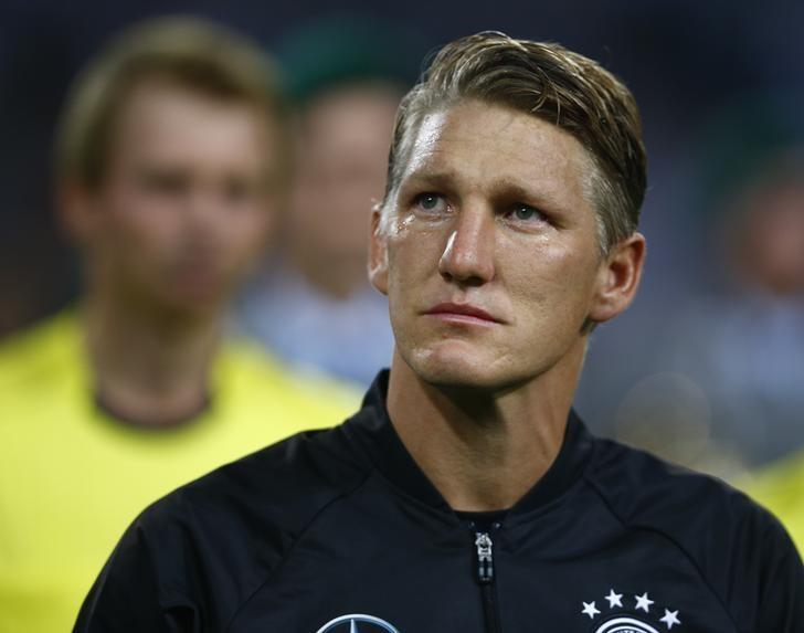 Football Soccer - Germany v Finland - Soccer Friendly - Moenchengladbach, Germany - 31/08/16. Germany's Bastian Schweinsteiger before the match.     REUTERS/Thilo Schmuelgen/Files