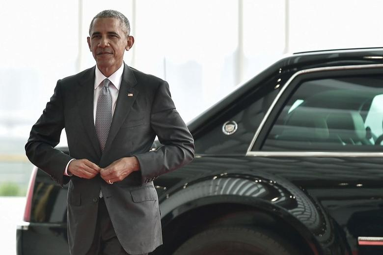 U.S. President Barack Obama arrives to attend the G20 Summit in Hangzhou, Zhejiang province, China, September 4, 2016. Picture taken September 4, 2016. REUTERS/Etienne Oliveau/Pool