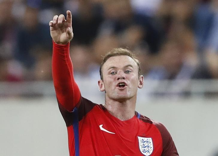 Football Soccer - Slovakia v England - 2018 World Cup Qualifying European Zone - Group F - City Arena, Trnava, Slovakia - 4/9/16England's Wayne Rooney Action Images via Reuters / Carl RecineLivepic