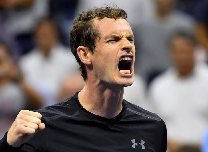 5, 2016; New York, NY, USA;  Andy Murray of Great Britain after beating Grigor Dimitrov of Bulgaria on day eight of the 2016 U.S. Open tennis tournament at USTA Billie Jean King National Tennis Center. Mandatory Credit: Robert Deutsch-USA TODAY Sports