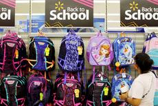 A woman shops for back to school supplies at a Walmart store in San Diego, California, U.S. August 6, 2015.      REUTERS/Mike Blake/File Photo