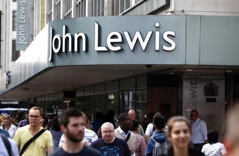 A John Lewis store is seen in Oxford street, in London, Britain August 14, 2016. Photograph taken on August 14, 2016. REUTERS/Peter Nicholls